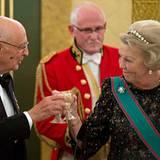 23. Oktober 2012: Königin Beatrix empfängt im Königspalast in Den Haag den italienischen Präsidenten Georgio Napolitano.
