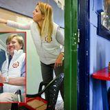 """16. März 2012: Auch Prinzessin Máxima und Prinz Willem-Alexander nehmen teil und streichen eine Wand in der """"Scouting Satoko Kit"""
