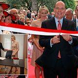 """12. September 2012: Fürst Albert und Fürstin Charlène weihen das """"State National Council"""" in Monaco ein."""
