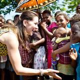 11. November 2012: Als Schirmherrin des UN-Bevölkerungfonds reist Prinzessin Mary von Dänemark nach Mosambik, wo sie unter ander
