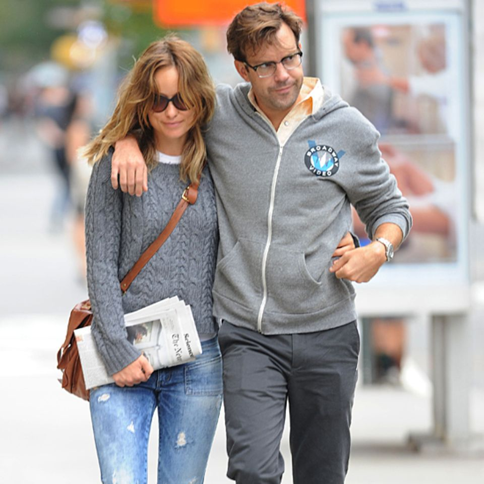 18. September 2012: Olivia Wilde und Jason Sudeikis bummlen durch das New Yorker West Village.