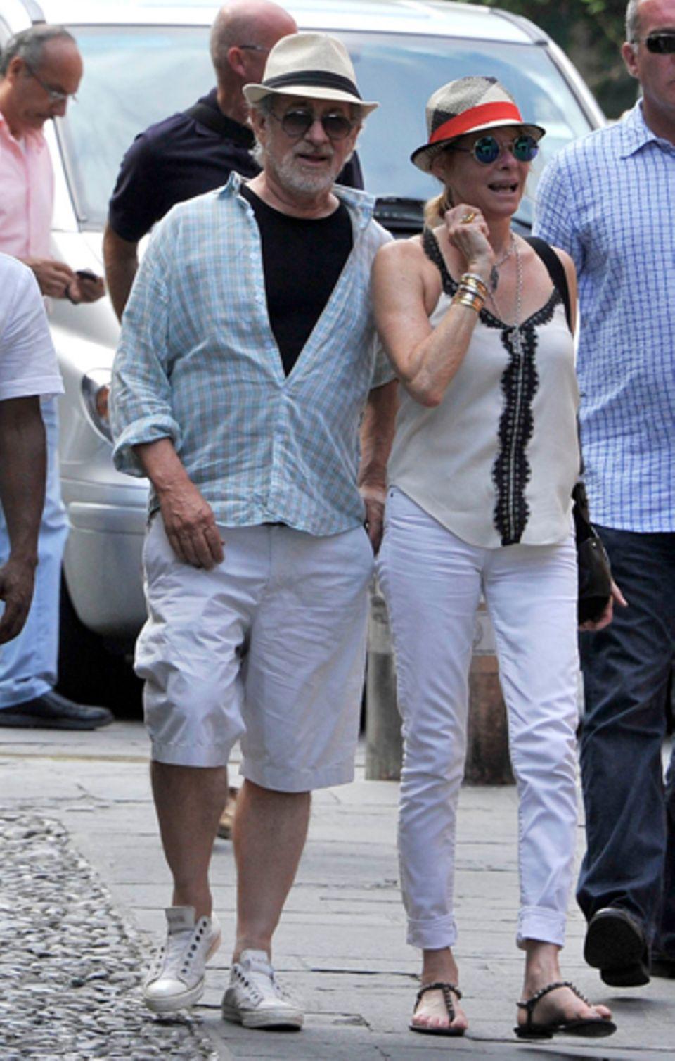 11. Juli 2012: Star_regisseur Steven Spielberg urlaubt mit seiner Familie im italienischen Portofino.