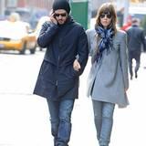 4. Dezember 2012: Justin Timberlake und Jessica Biel spazieren nach dem Mittagessen durch den Stadtteil Tribeca in Manhattan.