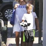1. September 2012: Die hochschwangere Reese Witherspoon und Sohn Deacon sind in Malibu unterwegs.