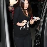 11. November 2012: Megan Fox zeigt sich zum ersten Mal nach der Geburt ihres Sohnes Noah in der Öffentlichkeit.