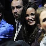 12. November 2012: Pippa Middleton und ihr Bruder James schauen sich das Finale des ATP-Turniers in London an.