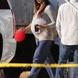 19. November 2012: Hochschwanger besucht Camila Alves ihrem Liebsten Matthew McConaughey am Set in New Orleans.