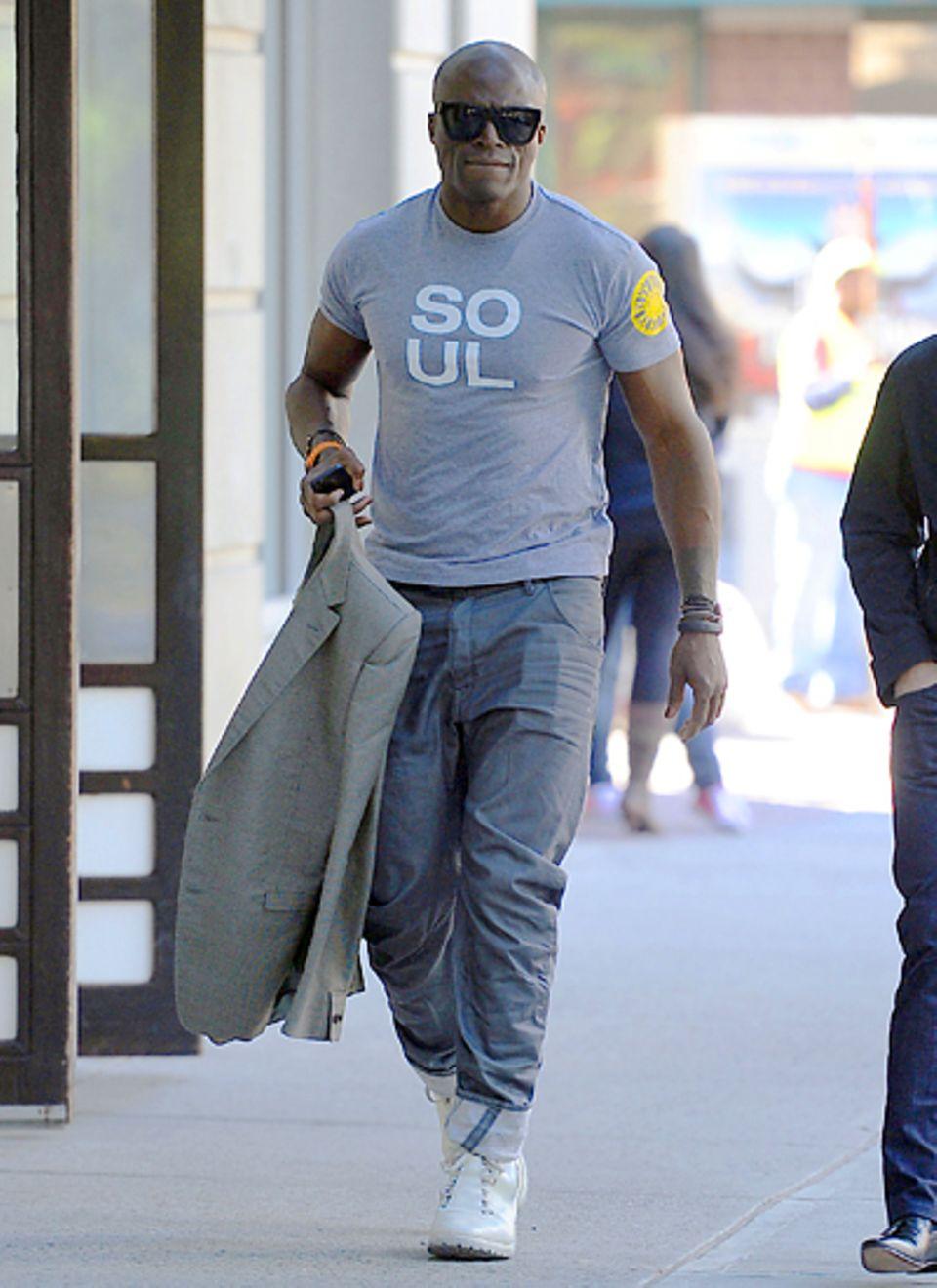 24. September 2012: Seal ist in Tribeca unterwegs.