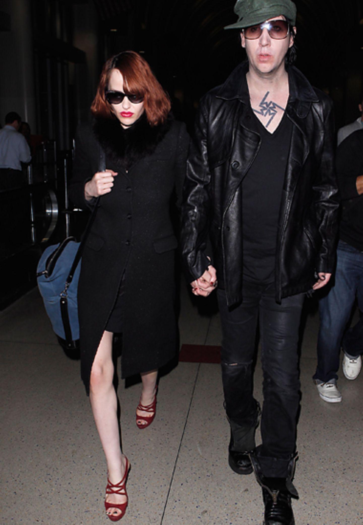 14. November 2012: Marilyn Manson und Lindsay Usich sind in Los Angeles unterwegs.