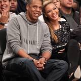 26. November 2012: Jay-Z und Beyoncé freuen sich auf das Basketballspiel der Los Angeles Clippers gegen die Brooklyn Nets im Bar