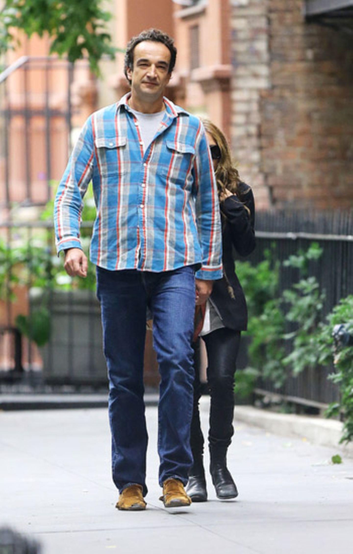 """30. September 2012: Mary Kate Olsen und Olivier Sarkozy essen im """"Sant Ambroeus Restaurant"""" in New York Mittag."""
