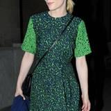 Zu dem hellen Teint von Cate Blanchett passt das grüne Printkleid von Preen Resort 2013 perfekt.