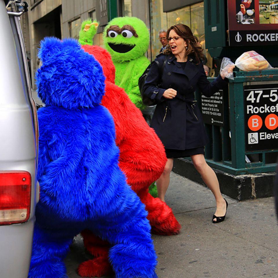 "9. April 2012: Tina Fey legt sich für ""30 Rock"" mit den Muppets an."