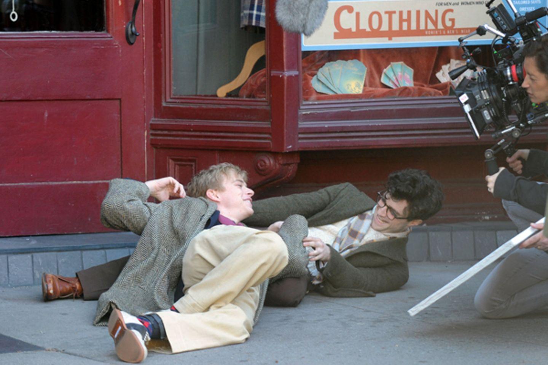"""19. März 2012: Daniel Radcliffe legt sich am Set von """"Kill Your Darlings"""" in Brooklyn ordentlich ins Zeug."""