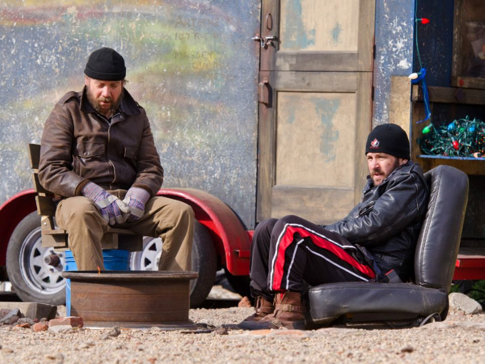 "9. April 2012: Paul Giamatti und Paul Rudd filmen in Brooklyn ""Lucky Dogs""."