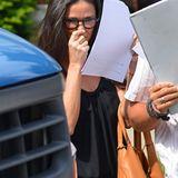 """9. Juli 2012: Demi Moore ist auf dem Weg zum Set von """"Very Good Girls""""."""