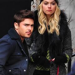 """20. Dezember 2012: Zac Efron und Imogen Poots stehen gemeinsam für den Film """"Are We Officially Dating"""" in New York vor der Kamer"""