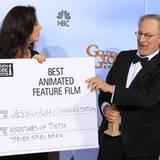 """Ja, noch mal nachlesen?! Stimmt! Steven Spielberg gewinnt mit """"Tim und Struppi"""" den Golden Globe für den Besten Animationsfilm."""