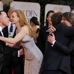 Ein herzliches Hallo gibt es bei Nicole Kidman, David Furnish, Keith Urban und Elton John.