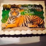 Drew Barrymores Tochter Olive wünscht sich zu ihrem dritten Geburtstag eine Tigertorte.