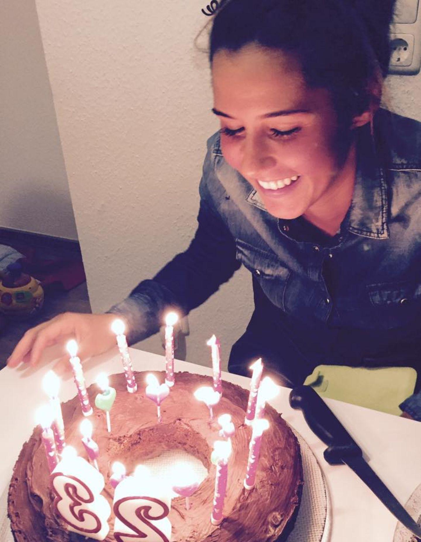 Sarah Engels feiert mit ihren Liebsten ihren 23. Geburtstag.