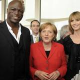 Heidi Klum, Seal, Angela Merkel - 14. April 2010