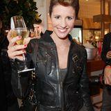 Mareile Hoeppner stößt mit Champgner von Pommery gern auf den GALA Fashion Brunch an.