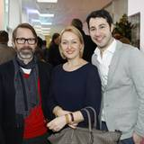 Alexander Dinter und Evelyn Grit Mohr (Biosthetique) mit GALA-Anzeigenleiter Jonas Wolf