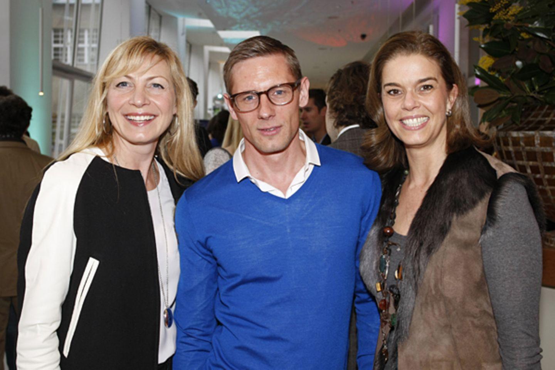 Christiane Bruszis (Coty Prestige), Martin Meincke und Kerstin Pooth (P&C)