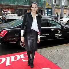 Bettina Zimmermann hat sich VIP-Shuttle-Service von Mercedes-Benz ins Ellington Hotel bringen lassen.