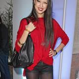 Vom Laufsteg zum Brunch: Rebecca Mir kommt direkt von einer Fashion-Show.