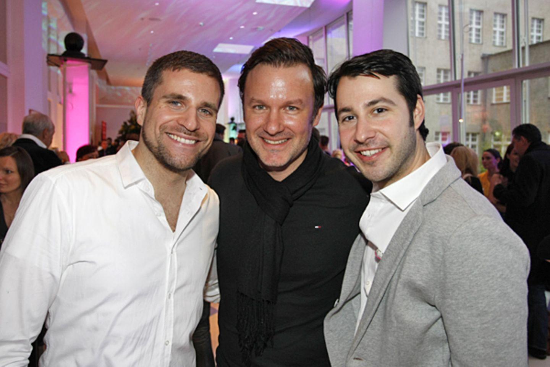 Wolfgang Lange (Biotherm), Thomas Faschian (Estée Lauder) und GALA-Anzeigenleiter Jonas Wolf