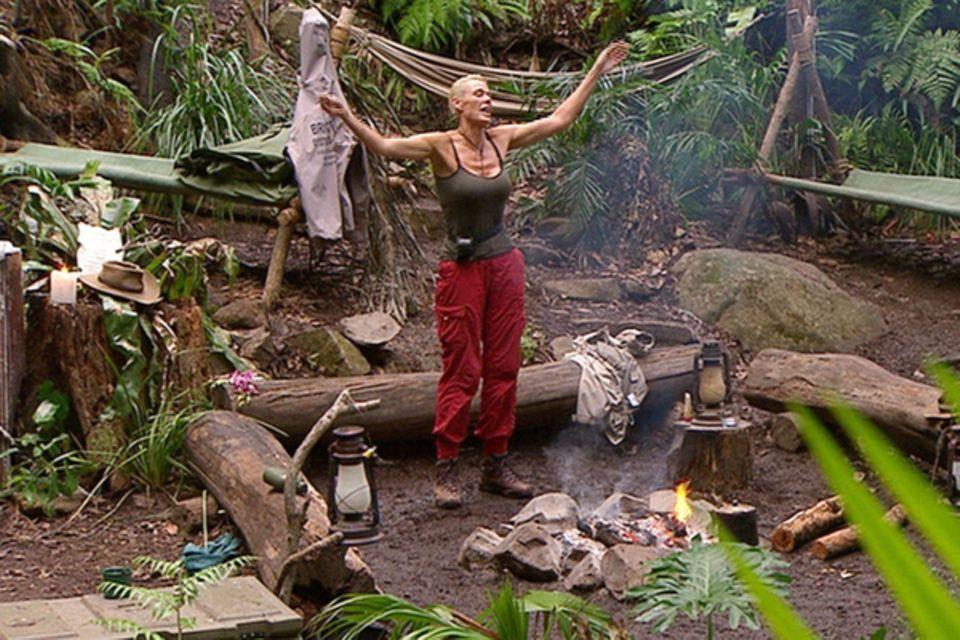 Die letzte Amazone im Dschungel: Brigitte Nieseln kann nicht fassen, dass sie es tatsächlich geschafft hat und von den Zuschauer