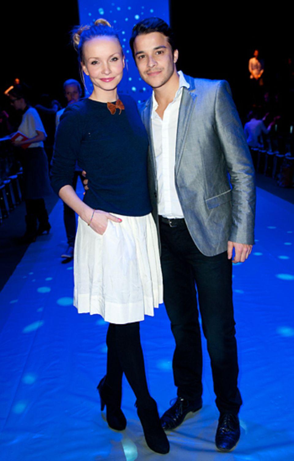 Fashion Week Berlin: Janin Reinhardt und Kostja Ullmann gehören zu den Gästen der Dimitri-Show.