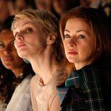 Fashion Week Berlin: Auch Dennenesch Zoudé, Susanne Atwell und Loretta Stern haben beste Sicht auf die Show.