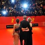 """Die Schauspieler stellen den Film """"Bel Ami"""" vor."""