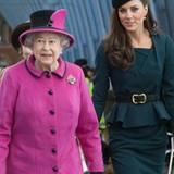 Queen Elizabeth II. beginnt ihre Tour zum 60. Thronjubiläum durch Großbritannien zusammen mit Herzogin Catherine.