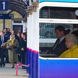 Weiter geht's mit dem Zug: Die Queen fährt von King's Lynn zurück nach London.