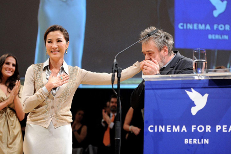 Schauspielerin Michelle Yeoh und Regisseur Luc Besson