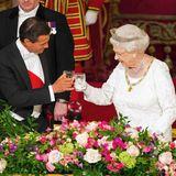 3. März 2015: Staatsbankette, wie hier zu Ehren von Mexikos Präsident Enrique Pena Nieto, gehören für die Queen zum royalen Alltag. Miit fast 89 ist sie auch eine extrem routinierte Gastgeberin.