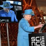 24. Oktober 2014: Die Queen geht mit der Zeit und setzt im Wissenschafts-Museum in London eigenhändig ihren ersten Tweet ab.
