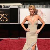 2013: Brandi Glanville in ihrer Eigenmarke Brand B  TV-Sternchen Brandi Glanville zeigt auf dem Oscar-Teppich kein gutes Beispiel für Eigenwerbung. Überpräsente Brüste sind hier eher lächerlich als sexy.