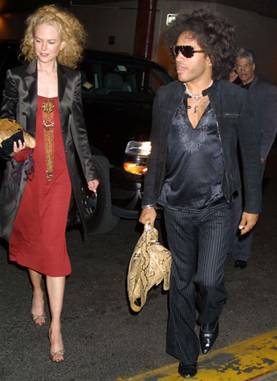 Lenny Kravitz und Nicole Kidman: Schwer zu glauben, aber wahr: Bereits vor ihrer Ehe mit Country-Star Keith Urban entdeckt Nicol