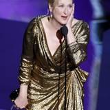"""Meryl Streep ist auch nach 17 Nominierungen und dem zweiten Oscar als """"Beste Schauspielerin"""" noch gerührt."""