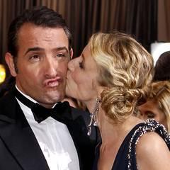 Den würden gern viele küssen: Jean Dujardin mit seiner Frau Alexandra Lemy