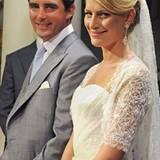 Als sie am 25. August 2010 ihren griechischen Prinzen heiratete, präsentierte sich die Eventplanerin klassich-elegant und mit fu