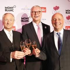 Montblanc-Geschäftsführer Lutz Bethge, Hoteldirektor Jost Deitmar und GALA-Chefredakteur Peter Lewandowski heißen alle Gäste der