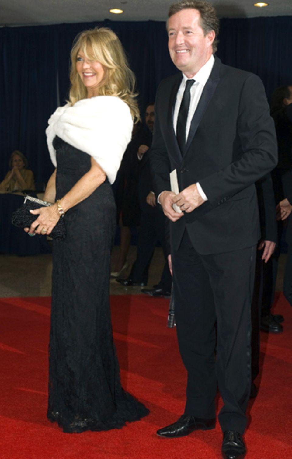 Goldie Hawn und Piers Morgan