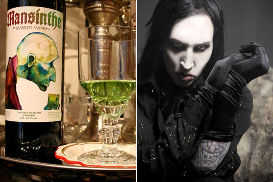 """Marilyn Manson hat sich für sein eigenes Lieblingsgetränk entschieden: In der Schweiz wird """"Mansinthe"""" hergestellt, eine von ihm"""
