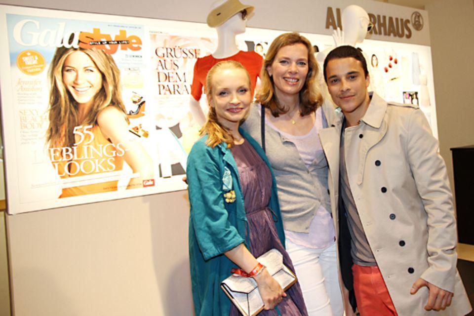 Janin Reinhardt, Astrid Saß (stellvertretende GALA-Chefredakteurin) und Kostja Ullmann